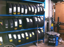 Tyre handling facility at Advanced Motorcare