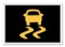 Vehicle traction control warning light
